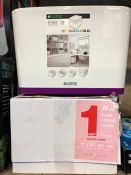 1 X PLASTIC STORAGE BOX AND 1 X BOXED SET OF PLAIN LISTING PAPER