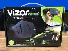 6 X VIZOR GAMING VR HEADSETS / COMBINED RRP £90.00 / UNTESTED CUSTOMER RETURNS