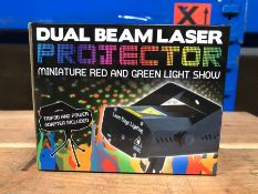 14 X DUAL BEAM LASER PROJETORS / COMBINED RRP £280.00 / UNTESTED CUSTOMER RETURNS