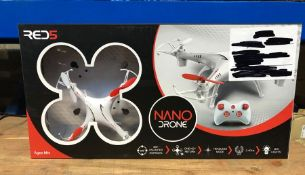 8 X NANO DRONES - COLOURS VARY / COMBINED RRP £160.00 / UNTESTED CUSTOMER RETURNS