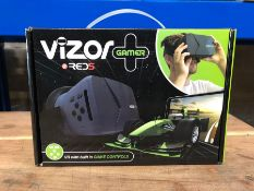 8 X VIZOR GAMING VR HEADSETS / COMBINED RRP £120.00 / UNTESTED CUSTOMER RETURNS