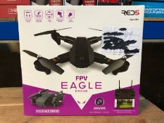 5 X EAGLE FOLDING DRONES WITH FVP / COMBINED RRP £395.00 / UNTESTED CUSTOMER RETURNS