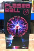 2 X PLASMA BALLS 6 INCH / COMBINED RRP £40.00 / UNTESTED CUSTOMER RETURNS