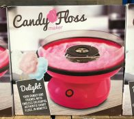 6 X CANDY FLOSS MAKERS / COMBINED RRP £180.00 / UNTESTED CUSTOMER RETURNS