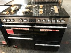 STOVES PRECISION DELUXE S1000DF GTG 100CM DUEL FUEL RANGE COOKER - BLACK / RRP £2000.00 /