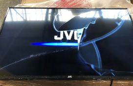 "JVC 40"" FULL HD LED TV - LT-40C590 / RRP £249.99 / TESTED AND TURNS ON, SCREEN DAMAGED. COMES WITH"