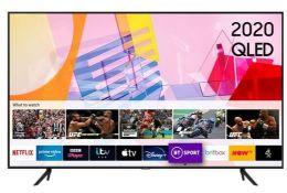 "SAMSUNG 65""SMART 4K ULTRA HD HDR QELD TV - QE65Q60TAU / RRP £999.99 / TESTED AND WORKING, SCREEN"