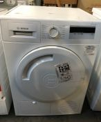 BOSCH WTH84000GB HEAT PUMP TUMBLE DRYER / RRP £438.00 / UNTESTED, USED, COSMETIC DAMAGE ON