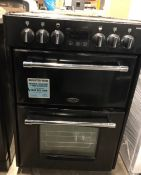BELLING FARMHOUSE 60E ELECTRIC DOUBLE OVEN - BLACK / RRP £670.00 / UNTESTED, USED, INTERIOR IN