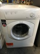 HOTPOINT VENTED TUMBLE DRYER - FETV60CP / RRP £209.99 / UNTESTED, UNUSED. COSMETIC DAMAGE, ONE