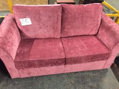 1 LOT TO CONTAIN A MALO 2 SEATER SOFA BED IN FESTIVAL RUBY / RRP £900.00