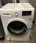 BOSCH WASHING MACHINE WAT28371GB / RRP £399.00 / UNTESTED, USED. FRONT PANEL CHIPPED AS PICTURED,