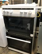 AMICA GAS TWIN FREESTANDING OVEN WITH GAS HOB AFG5100WH/1 / RRP £287.00 / UNTESTED, USED. EXTERIOR