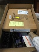 1 LOT TO CONTAIN AN ASSORTMENT OF OFFICE SUPPLIES, ITEMS TO INCLUDE: DISPOSABLE GLOVES, DESKTOP
