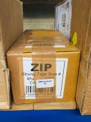 1 LOT TO CONTAIN ZIP STRUNG TAGS SIZE 4 QUANTITY 1000 - L2