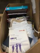 1 LOT TO CONTAIN AN ASSORTMENT OF OFFICE SUPPLIES, ITEMS TO INCLUDE: OXFORD NOTEPADS, BALLPOINT