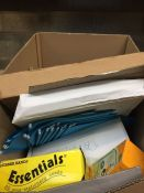 1 LOT TO CONTAIN AN ASSORTMENT OF OFFICE SUPPLIES, ITEMS TO INCLUDE: BIC PENCILS, RUBBER BANDS,