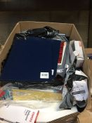 1 LOT TO CONTAIN AN ASSORTMENT OF OFFICE SUPPLIES, ITEMS TO INCLUDE: SUSPENSION FILES, BALLPOINT