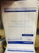 1 LOT TO CONTAIN A BOX OF STAPLETONS BLANK INVOICES - L2