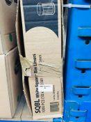 1 LOT TO CONTAIN A BOX OF SQBL WHITE SQUARE BIN LINERS, 1000PCS IN THE BOX - L2
