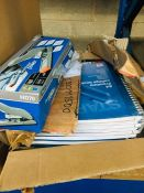 1 LOT TO CONTAIN A BOX OF PREMIUM COLLEGE WORKBOOKS AND A RAPID HEAVY DUTY STAPLER - L2