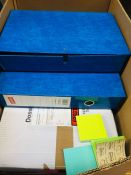 1 LOT TO CONTAIN AN ASSORTMENT OF OFFICE SUPPLIES, ITEMS TO INCLUDE: SUSPENSION FILES AND