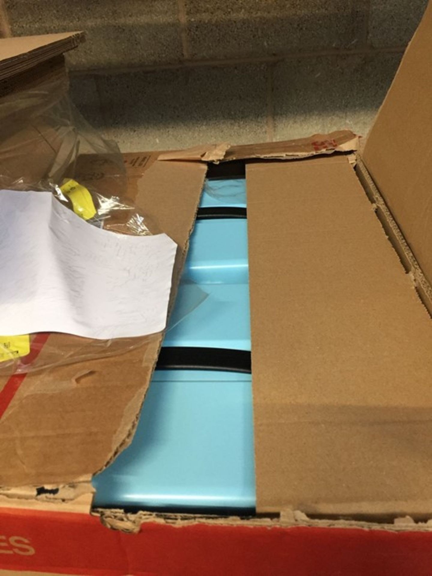 1 LOT TO CONTAIN 2 X LIGHT BLUE METAL LOCKABLE STORAGE CHESTS - L3