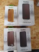 ONE LOT TO CONTAIN THIRTEEN (X13) BOXED MIXED 'ERUTEC KARBON S' IPHONE SE / 5 / 5S CASES. MIXED