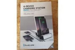 ONE LOT TO CONTAIN ELEVEN (X11) BOXED 'BLUEFLAME' APPLE 4-DEVICE CHARGING STATIONS. ALL AS NEW IN