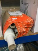 1 LOT TO CONTAIN 6 X ROLLS OF CLEAR SHRINK WRAP / PALLET WRAP WITH EXTENDED TUBE ENDS - L3