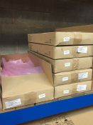 1 LOT TO CONTAIN A BOX OF RIVER ISLAND PINK RETURN BAGS, 200 PER BOX, CAN BE USED AS GARBAGE SACKS
