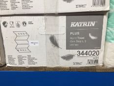 1 LOT TO CONTAIN A BOX OF KATRIN PLUS HAND TOWEL ONE STOP L 3 - L3