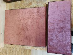 ONE LOT TO CONTAIN JOB LOT JEWELLERY / JEWELLERS DISPLAY BOARDS. METAL TRAY WITH RED VELVET CUSHION.