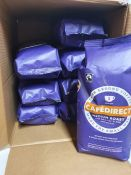 ONE LOT TO CONTAIN ONE BOX OF CAFÉ DIRECT GROUND COFFEE (MEDIUM ROAST) - 8 PACKS PER BOX, 750G PER