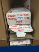 1 LOT TO CONTAIN 3 X BOXES OF CLICK POWDER FREE VINYL DISPOSABLE GLOVES IN LARGE, 100 PIECES PER BOX