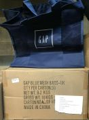 1 LOT TO CONTAIN A BOX OF 30 GAP IN STORE NEW POLYMESH SHOPPER BAGS - L3