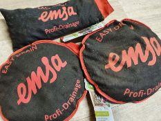ONE LOT TO CONTAIN THREE 'EMSA EASY DRAIN PROFI DRAINAGE' BAGS. NEW WITH TAGS BUT DUSTY. COMBINED