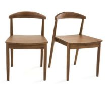 LA REDOUTE GALB WOODEN CHAIRS (SET OF 2)