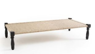 LA REDOUTE ADAS BENCH/INDIAN BED IN WOOD AND ROPE