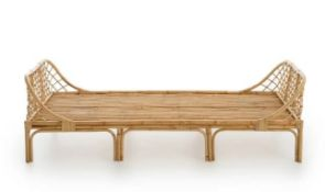 LA REDOUTE KATSUKI CHILD'S RATTAN BED WITH BASE / SIZE: 90 X 190CM (SINGLE)