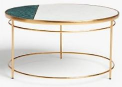 JOHN LEWIS + SWOON SARTRE MARBLE COFFEE TABLE