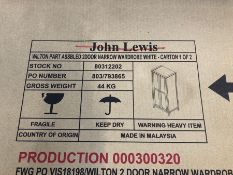 JOHN LEWIS WILTON NARROW 2 DOOR WARDROBE