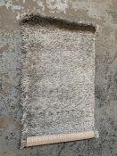 LA REDOUTE HAKIN SHAGGY BEDSIDE RUG - GREY / SIZE: 60 X 115CM