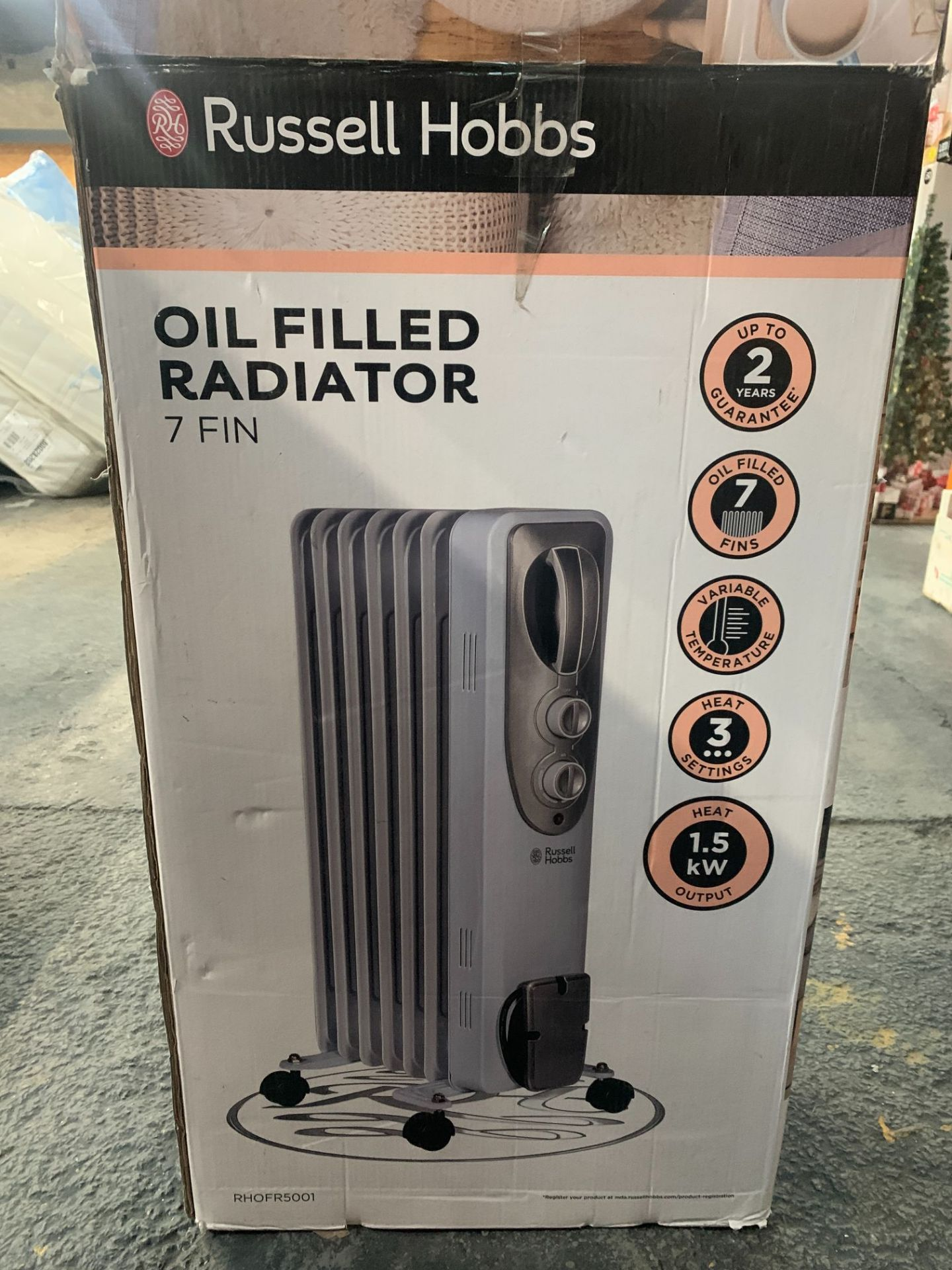 RUSSELL HOBBS OIL FILLED RADIATOR 7 FIN - Image 2 of 2