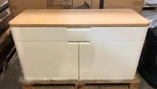 EBBE GEHL MIRA SMALL SIDEBOARD IN WHITE