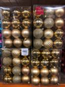 APPROX 24 X PACKS OF CHRISTMAS BAUBLES - GOLD / 36 BAUBLES PER PACK / COMBINED RRP £120.00 / AS