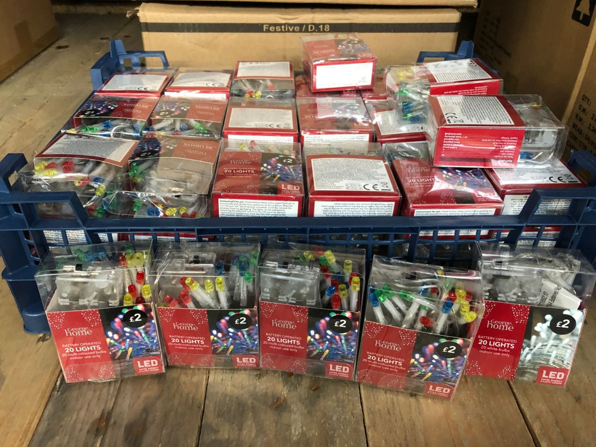 APPROX 62 PACKS OF MULTI-COLOURED LED CHRISTMAS LIGHTS / COMBINED RRP £124.00 / LIKE NEW (IMAGES ARE