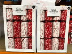 APPROX 20 X PACKS OF CHRISTMAS CRACKERS / COMBINED RRP £60.00 / LIKE NEW, BOX DAMAGE (IMAGES ARE FOR