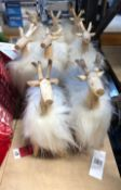 8 X RIENDEER DISPLAY PIECES / RRP £64.00 (IMAGES ARE FOR ILLUSTRATION PURPOSES ONLY - WE DO NOT TEST