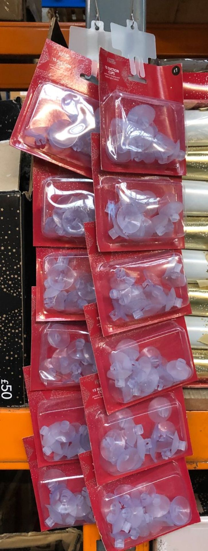 12 X PACKS OF SUCTION CUPS / AS NEW (IMAGES ARE FOR ILLUSTRATION PURPOSES ONLY - WE DO NOT TEST
